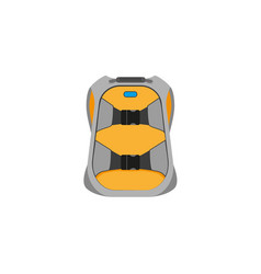 Snowboarding backpack flat icon isolated vector