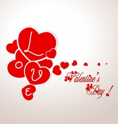 Valentine with hearts vector