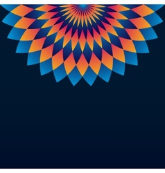 Pattern with circle ornament mandala and rhombus vector