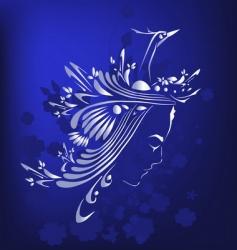 girl and bird design vector image