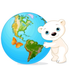 Polar bear earth day vector
