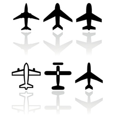 Airplane symbol set vector