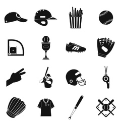American football black simple icons vector