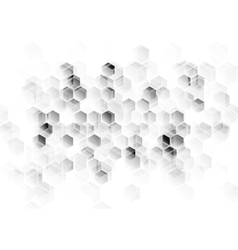 Abstract light grey tech background vector