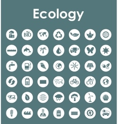 Set of ecology simple icons vector image