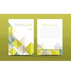Geometric a4 front page business annual report vector