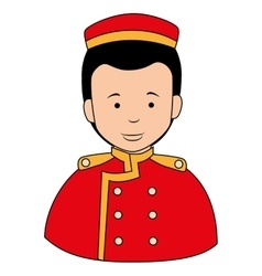 Bell boy button icon vector