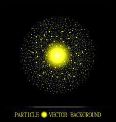 Abstract shpere of yellow glowing light vector