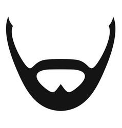 Beard and whiskers icon simple style vector
