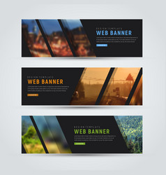 black banner of standard size with diagonal vector image vector image