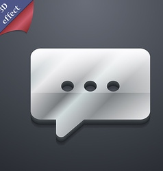 Cloud of thoughts icon symbol 3d style trendy vector