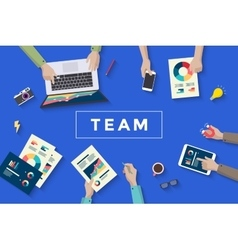 Concept design of business teamwork meating and vector