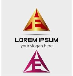 Corporate logo e letter company design temp vector