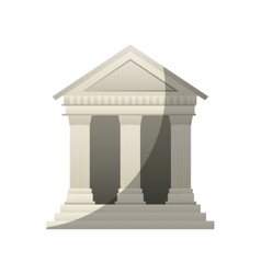 Court building isolated icon vector