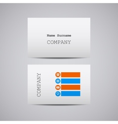 creative white cardboard paper business card vector image