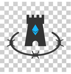 Ethereum bulwark icon vector