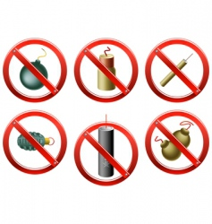 firecrackers banned vector image vector image