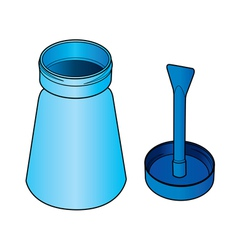 glue bottle with brush vector image vector image