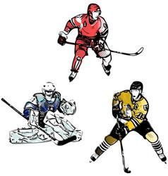 Hockey trio vector