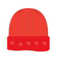 isolated winter hat vector image vector image