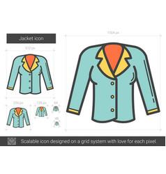 Jacket line icon vector