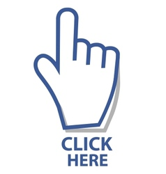 Mouse hand cursor click button vector