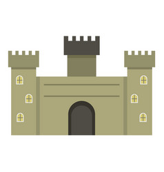 Old fortress towers icon isolated vector