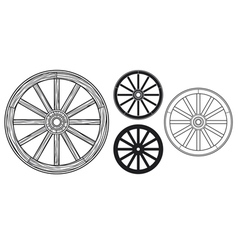 old wooden wheel vector image vector image
