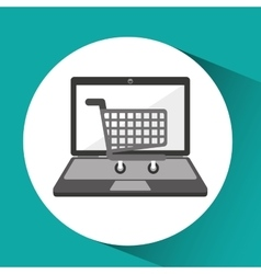 Online store shopping cart graphic vector