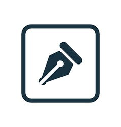 pen icon Rounded squares button vector image vector image