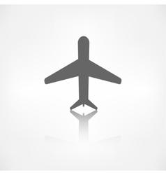 Plane airplane icon vector image vector image