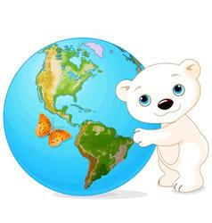 Polar bear earth day vector