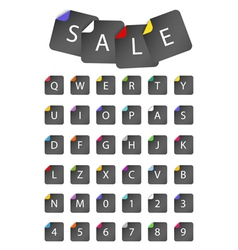 Sale and letter icons vector