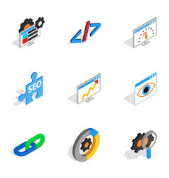Search engine optimize concept icons vector