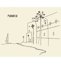 Sketch streets monaco drawn vector