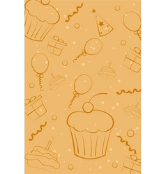 sketchy birthday card vector image vector image