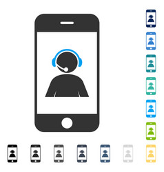 Smartphone operator contact portrait icon vector
