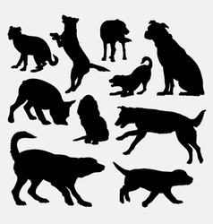 Dog pet animal silhouette 9 vector
