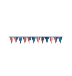 Bunting flag america usa vector