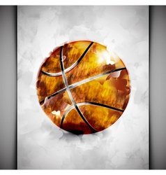 Basketball ball watercolor vector image