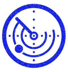 Radar grunge icon vector