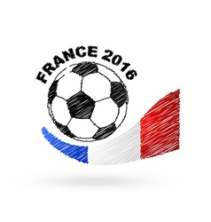 Football ball with france flag scribble effect vector