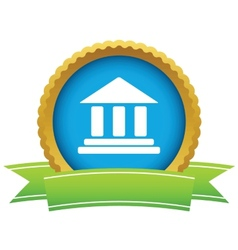 Classical building icon vector