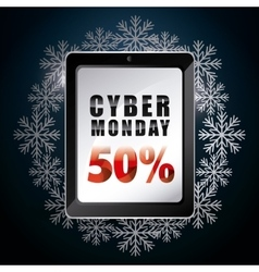 Cyber monday shopping design vector