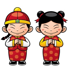 Chinese kids vector