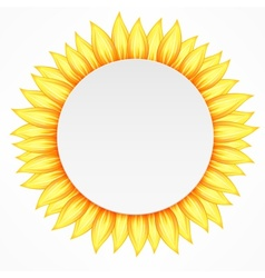 Round flower icon vector