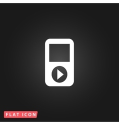 Mp3 player flat icon vector