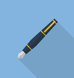 Pen flat icon vector