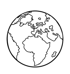 Planet earth icon flat planet earth icon vector
