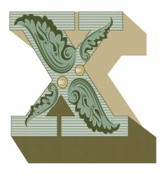 Western letter x vector
